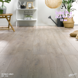 536 ROBLE LINO - ALSAFLOOR SOLID PLUS AC6 4V 5G 12 MM