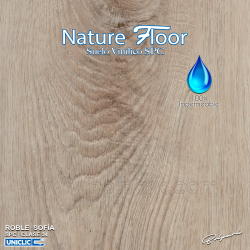 ROBLE SOFÍA | NATURE FLOOR® | SPC | 100% IMPERMEABLE