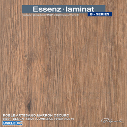 ROBLE ARTESANO MARRÓN OSCURO 64921  | ESSENZ LAMINAT | B-SERIES | COMMERCE 4V