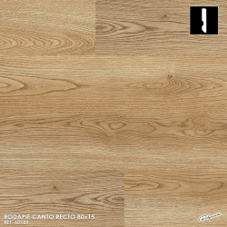 60189 SMARTSKIRTINGS RODAPIE CANTO RECTO MELAMINA COLOR A JUEGO